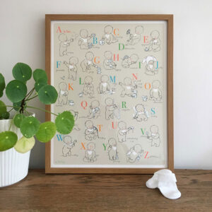 Nursery Print - Alphabet Babies - Little Liefje