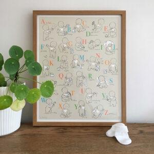 Nursery Print - Alphabet Babies - Little Liefje