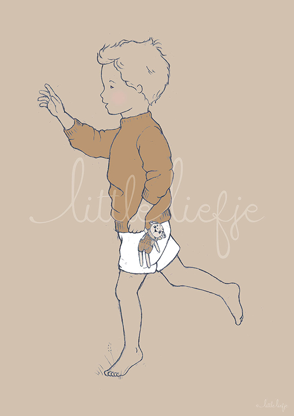 Children's Art Print - Boy - Little Liefje