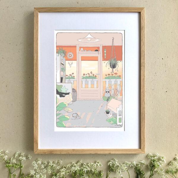 Children's Art Print - Sunset - Little Liefje