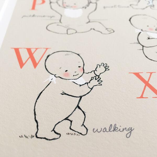 Personalised Nursery Print - Alphabet Babies - Little Liefje