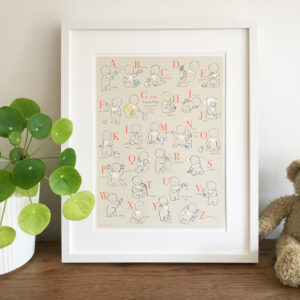 Personalised Nursery Print - Alphabet Babies - Little Liefje
