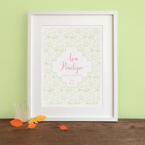 Personalised Seasonal Nursery Print - Autumn - Little Liefje