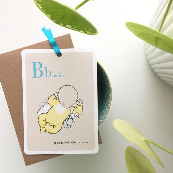 Baby Boy Celebration Card - Alphabet Babies - Little Liefje