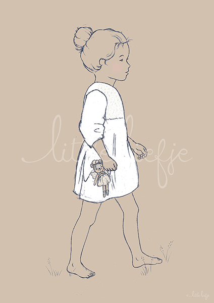 Children's Art Print - Girl - Little Liefje