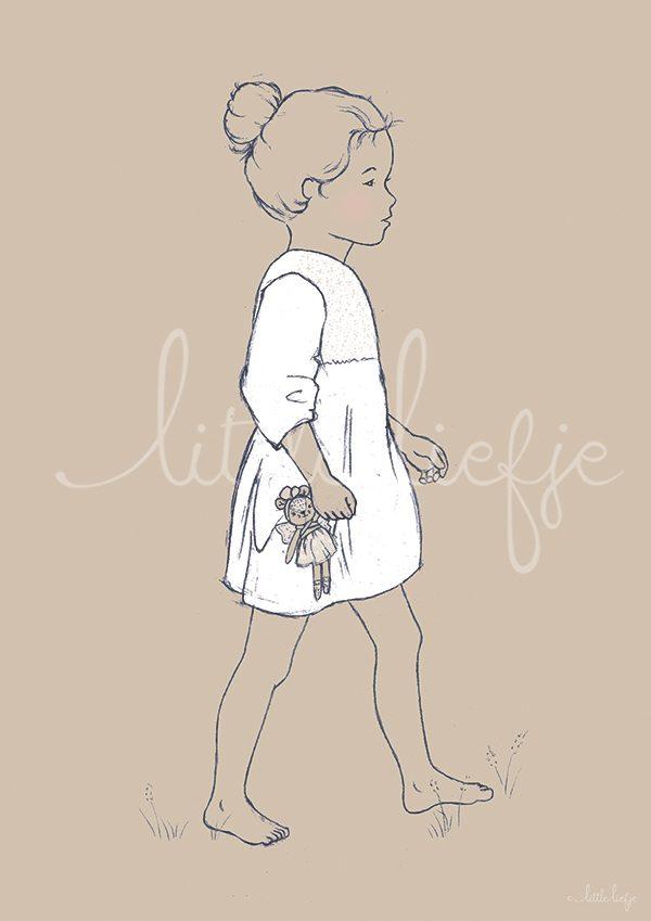 Children's Art Print - Girl - Little Liefje