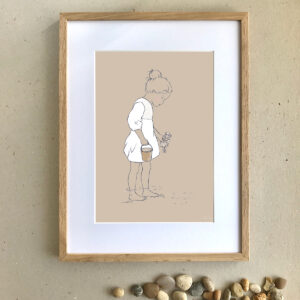 Children's Art Print - Searching - Little Liefje