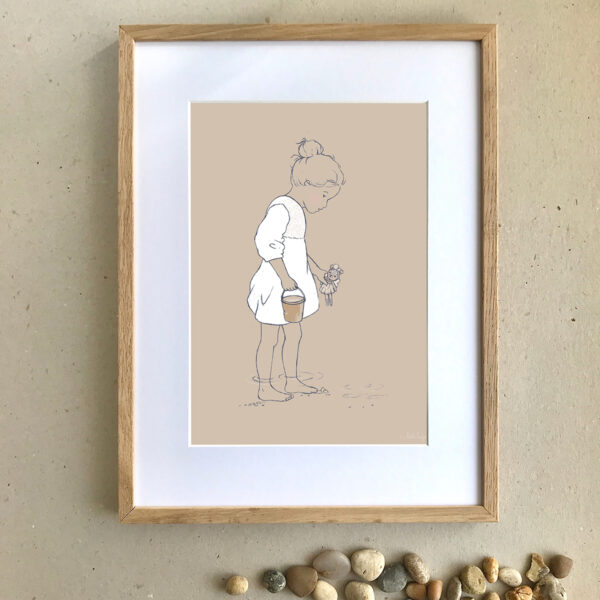 Children's Art Print - Searching - Little Liefje