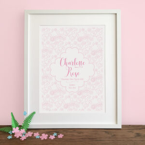 Personalised Seasonal Nursery Print - Spring - Little Liefje