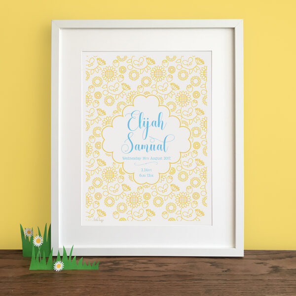 Personalised Seasonal Nursery Print - Summer - Little Liefje