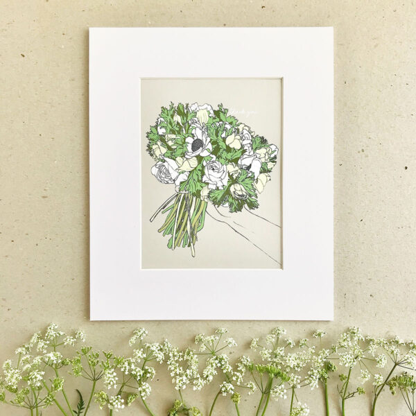 Illustration Art Print 'A Gift for You'