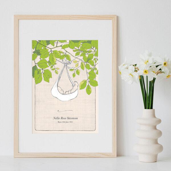 Personalised Art Print 'Drawing Nature In'