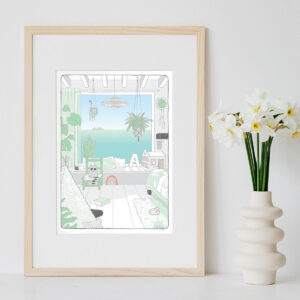 Illustration Art Print 'Midday'