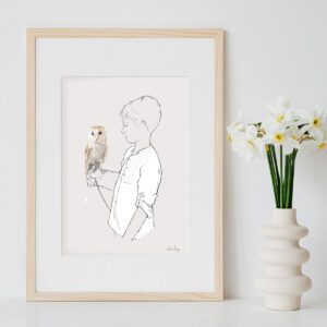 Illustration Art Print 'Oliver & the Owl'