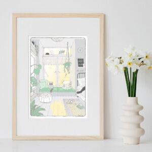 Illustration Art Print 'Sunrise'