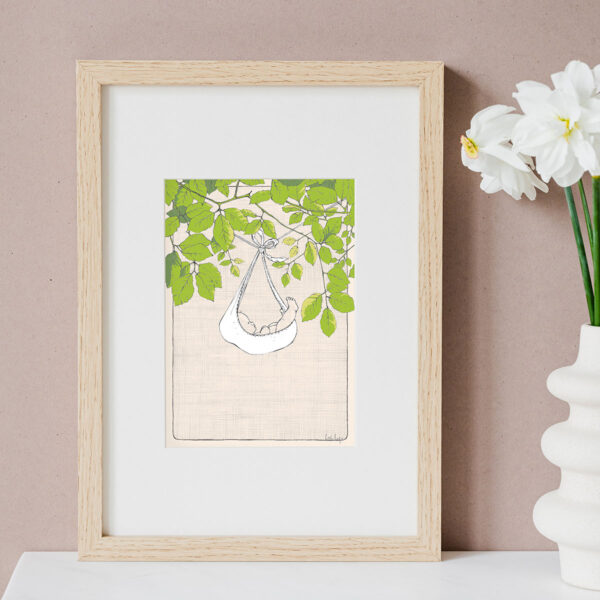 Illustration Art Print 'Drawing Nature In'