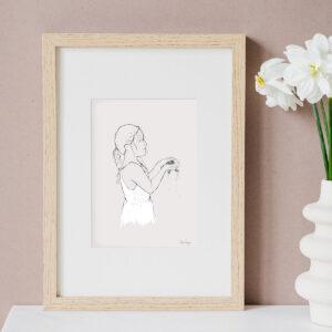 Illustration Art Print 'Flora & the Frog'