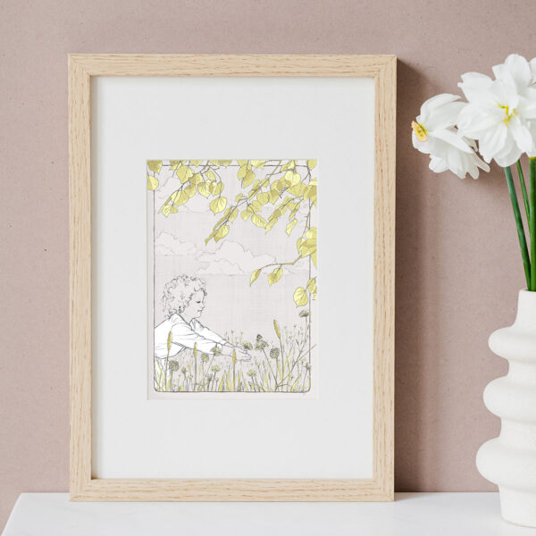 Illustration Art Print 'Moses in the Meadow'
