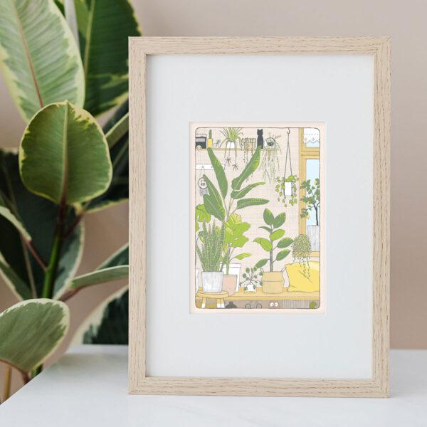Illustration Art Print 'Plant Heaven'